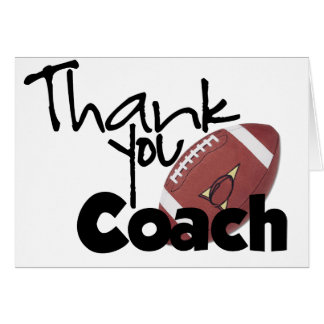 Gracias entrenar, fútbol tarjeta de felicitación