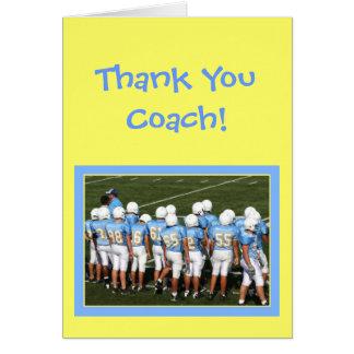 Gracias entrenar la tarjeta de felicitación de los
