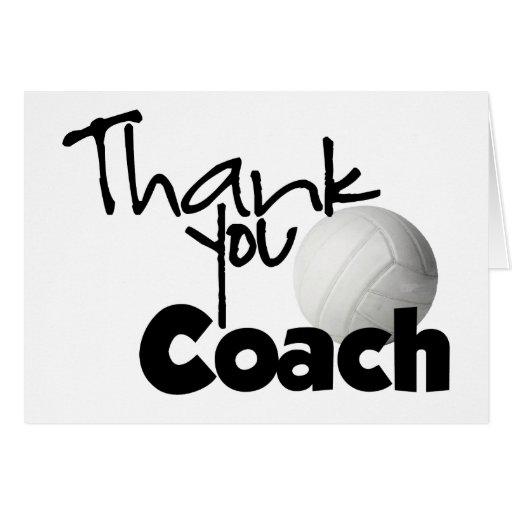 Gracias entrenar, voleibol tarjetón
