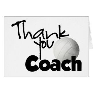 Gracias entrenar, voleibol tarjeta de felicitación
