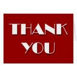 Gracias espacio en blanco blanco rojo de las tarjeta de felicitación