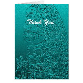 Gracias espacio en blanco dentro noria tarjeta