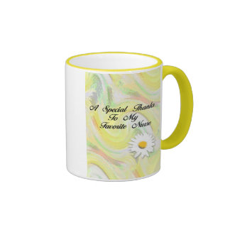 Gracias especiales a mi enfermera preferida taza