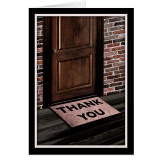 gracias estera de puerta tarjeta de felicitación