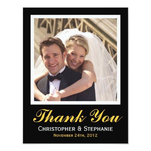Gracias estilo moderno del boda en oro invitación 10,8 x 13,9 cm
