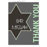 Gracias estrella del verde y del gris de Mitzvah d
