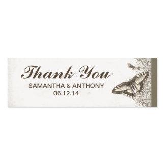gracias etiqueta del regalo de boda por sus favore plantillas de tarjetas personales
