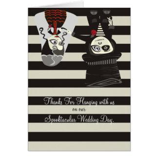 Gracias fantasmagóricas del boda tarjeta pequeña