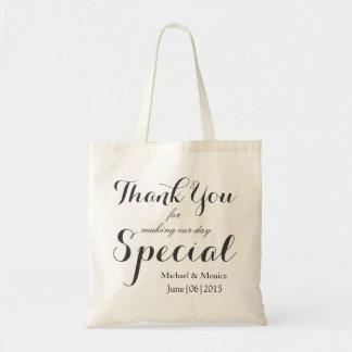 Gracias favor de encargo del tote del regalo del bolsa tela barata