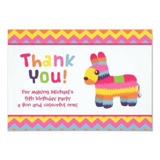 """Gracias fiesta de cumpleaños mexicana de la fiesta invitación 3.5"""" x 5"""""""