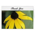 Gracias - flor amarilla tarjetas