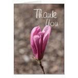 Gracias flor rosada tarjetas