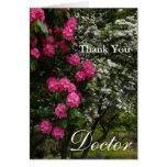 Gracias floral Doctor-Rosado y blanco/el jardín Tarjetón
