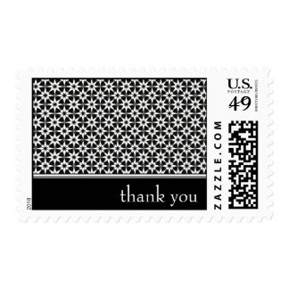 gracias: floral elegante: sello postal