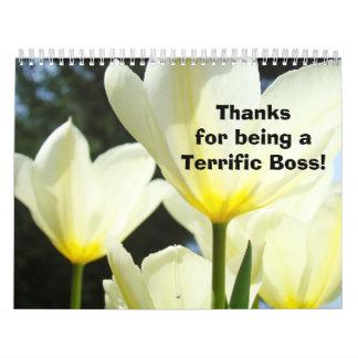 Gracias florales Boss del calendario de la fotogra