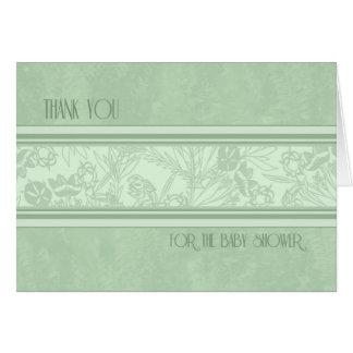 Gracias florales verdes por recibir la tarjeta de