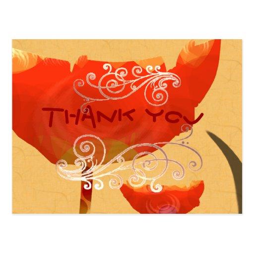 Gracias florece tarjeta postal
