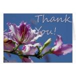 Gracias florecer la tarjeta