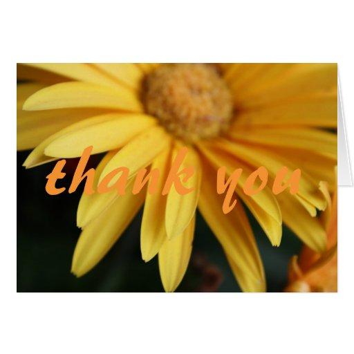 gracias florecer la tarjeta de nota