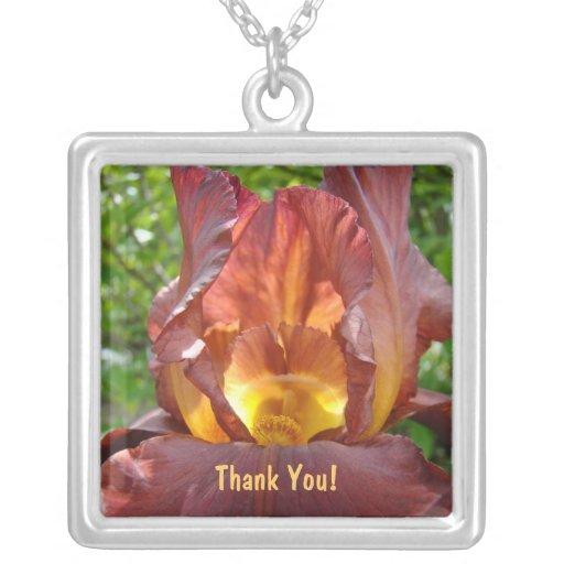 ¡Gracias! flores del iris del coche del profesor d Joyeria