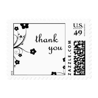 gracias: flores: sello postal