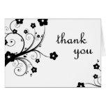 gracias: flores: tarjeta de felicitación