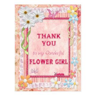Gracias florista, tarjeta del arte de las flores tarjeta postal