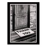 gracias fotografía de la estera de puerta postales
