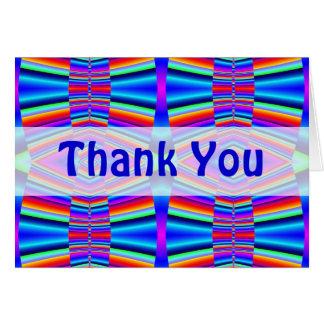 Gracias fractal colorido tarjeta de felicitación