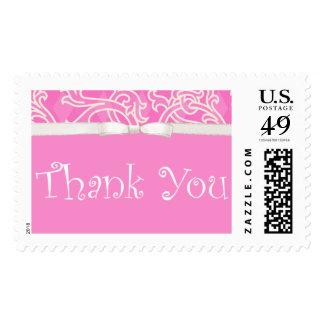 Gracias franqueo de encargo rosado bonito