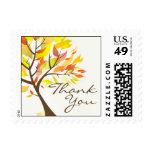 Gracias franqueo del árbol del otoño pequeño