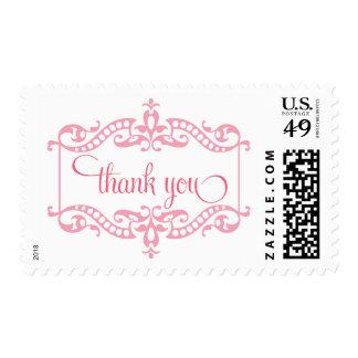 Gracias franqueo en rosa