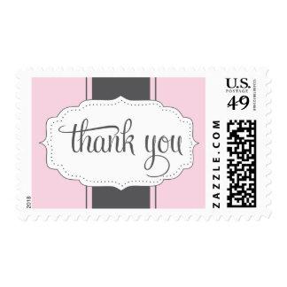 Gracias franqueo en rosa y gris