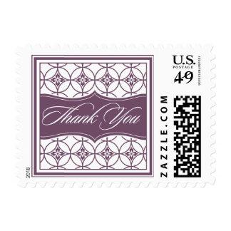 Gracias franqueo modelado moderno sello postal