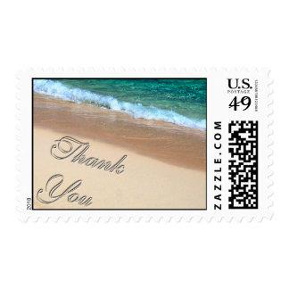 Gracias franqueo tropical timbre postal