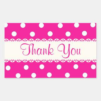 Gracias Fuschia rosado y el pegatina blanco del