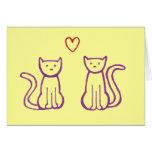 ¡Gracias! - Gatos con el corazón Tarjetas