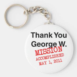 Gracias George W Llavero Redondo Tipo Pin