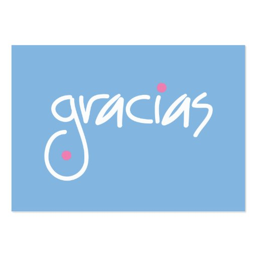 Gracias gift cards business card