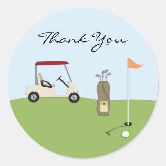 Gracias Golf a los pegatinas Pegatina Redonda