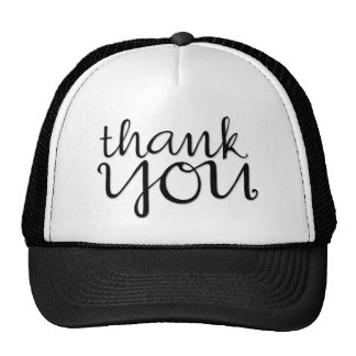 Gracias gorra negro cursivo