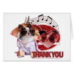 Gracias - gracias mucho - chihuahua - trasto tarjeta de felicitación