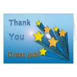 Gracias gran Shooting Stars del trabajo Tarjeton
