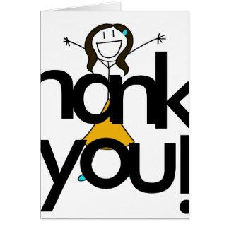 ¡Gracias grandes! Tarjeta De Felicitación