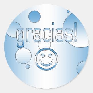 Gracias! Guatemala Flag Colors Pop Art Classic Round Sticker