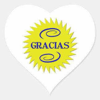 Gracias Heart Sticker