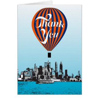 Gracias hinchar tarjeta de felicitación