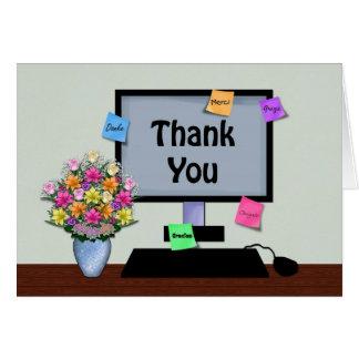 Gracias, idioma extranjero, profesional del Admin Tarjeta De Felicitación
