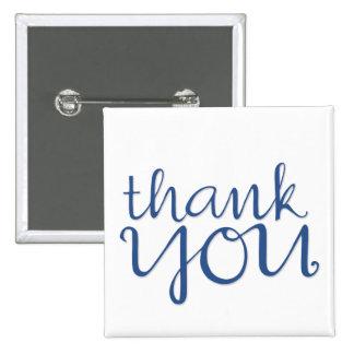 Gracias imán azul cursivo pins