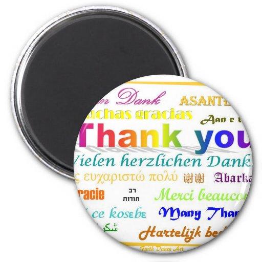 Gracias imán - multilingüe